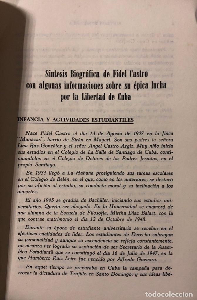 Libros de segunda mano: PENSAMIENTO POLITICO, ECONOMICO Y SOCIAL DE FIDEL CASTRO. EDITORIAL LEX. LA HABANA, 1959. - Foto 2 - 176326433