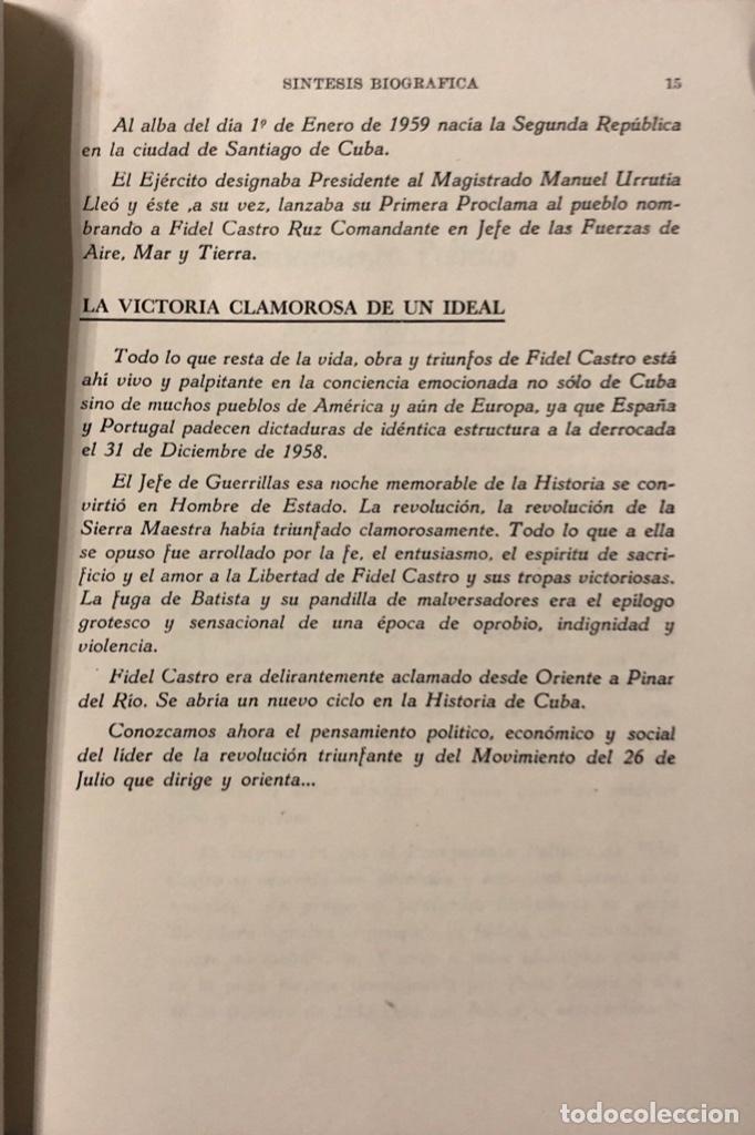Libros de segunda mano: PENSAMIENTO POLITICO, ECONOMICO Y SOCIAL DE FIDEL CASTRO. EDITORIAL LEX. LA HABANA, 1959. - Foto 4 - 176326433
