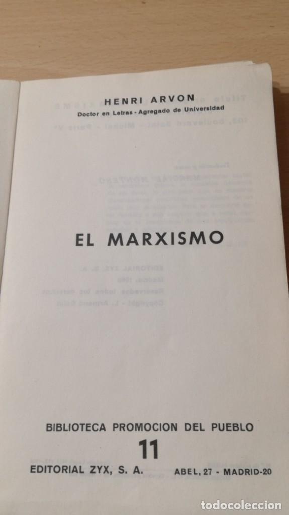 Libros de segunda mano: EL MARXISMO - HENRI ARVON - 11 BIBLIOTECA PROMOCION DEL PUEBLO/ 71-72 AB - Foto 5 - 176484962