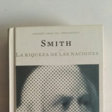 Libros de segunda mano: SMITH LA RIQUEZA DE LAS NACIONES. Lote 176950407