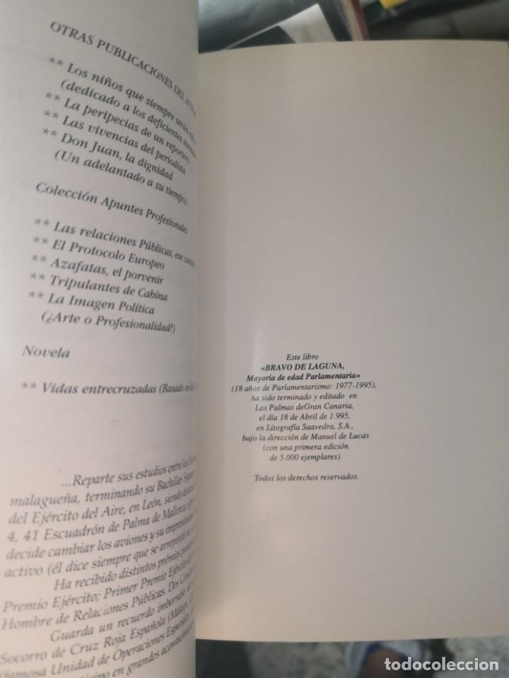 Libros de segunda mano: BRAVO DE LAGUNA. 18 AÑOS DE PARLAMENTARISMO. POR Manuel de Lucas - Foto 3 - 178084880