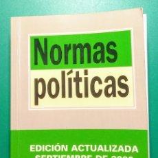Libros de segunda mano: LIBRO. NORMAS POLÍTICAS. EDITORIAL TECNOS. 2000.. Lote 178314906