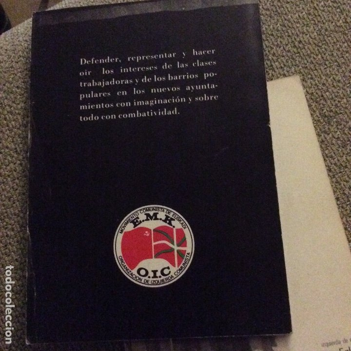 Libros de segunda mano: EMK OIC Programa municipal. Por unos ayuntamientos al servicio del pueblo 1979 RARO - Foto 2 - 178895362