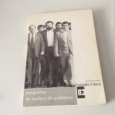 Libros de segunda mano: PROGRAMA DE LUCHA Y DE GOBIERNO EUSKADIKO EZKERRA IZQUIERDA DE EUSKADI 1980 RARO. Lote 178895772