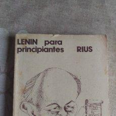 Libros de segunda mano: LENIN PARA PRINCIPIANTES Y MANIFIESTO COMUNISTA, ILUSTRADO, RIUS. Lote 179158658