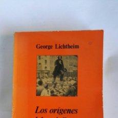 Libros de segunda mano: LOS ORÍGENES DEL SOCIALISMO GEORGE LICHTHEIM. Lote 179961907