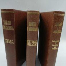 Libros de segunda mano: ESPAÑA, CRISTÓBAL COLÓN Y CARÁCTER Y DESTINO EN EUROPA . Lote 180874987