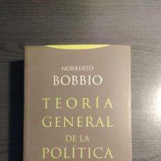 Libros de segunda mano: TEORÍA GENERAL DE LA POLÍTICA. NORBERTO BOBBIO, TROTTA. . Lote 181190426