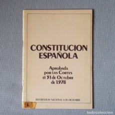 Libros de segunda mano: CONSTITUCIÓN ESPAÑOLA 1978. Lote 181520130