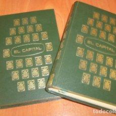 Libros de segunda mano: EL CAPITAL , CARLOS MARX 2 TOMOS. Lote 181598101