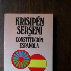Libros de segunda mano: CONSTITUCION ESPAÑOLA EN CASTELLANO Y ROMANÍ. Lote 181745357
