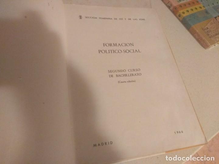 Libros de segunda mano: Lote 3 libros antiguos Formación Politico Social 1-2-3° Bachillerato 1966 Seccion Femenina FET JONS - Foto 2 - 182890091