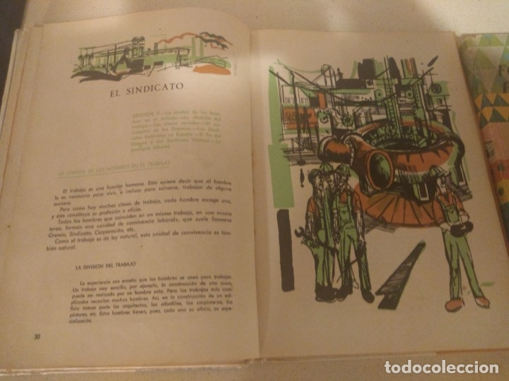 Libros de segunda mano: Lote 3 libros antiguos Formación Politico Social 1-2-3° Bachillerato 1966 Seccion Femenina FET JONS - Foto 3 - 182890091