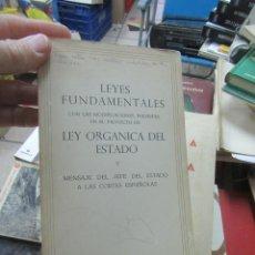 Libros de segunda mano: LEYES FUNDAMENTALES, MADRID 1966. L.20062. Lote 184101088