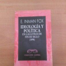 Libros de segunda mano: IDEOLOGÍA Y POLÍTICA. Lote 184450541