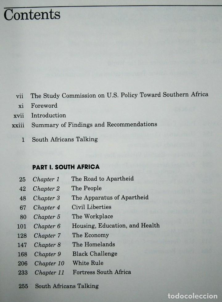 Libros de segunda mano: South Africa: Time Running Out- The Report of the Study Commission on US Policy Toward Southern Afri - Foto 3 - 184636821