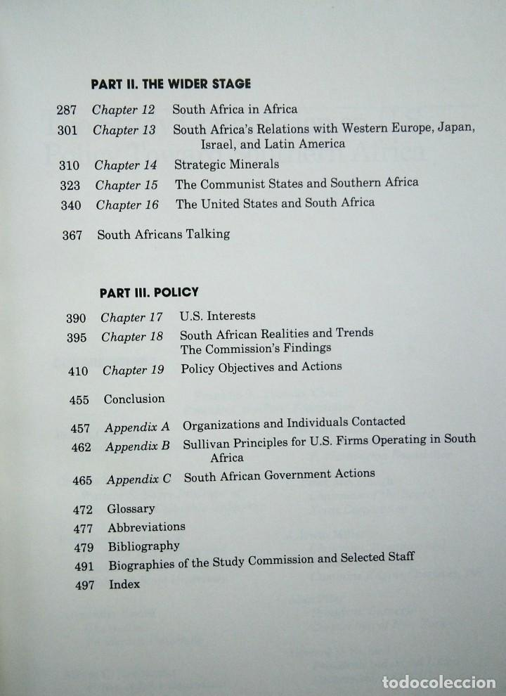 Libros de segunda mano: South Africa: Time Running Out- The Report of the Study Commission on US Policy Toward Southern Afri - Foto 5 - 184636821
