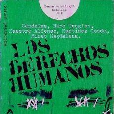 Libros de segunda mano: LOS DERECHOS HUMANOS - JACINTO CANDELAS. Lote 184772246