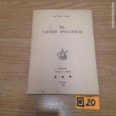 Libros de segunda mano: EL GENIO POLÍTICO. Lote 186011545