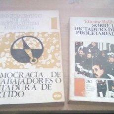 Libros de segunda mano: LOTE DE 2 LIBROS SOBRE LA DICTADURA DEL PROLETARIADO. Lote 186061568