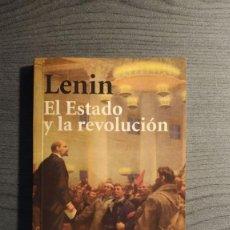 Libros de segunda mano: EL ESTADO Y LA REVOLUCION LENIN EDITORIAL: ALIANZA . Lote 186234943