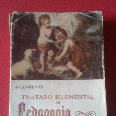 Libros de segunda mano: LIBRO TRATADO ELEMENTAL DE PEDAGOGÍA CATEQUÍSTICA DANIEL LLORENTE 1955 EDITORIAL CASA MARTÍN VER FOT. Lote 186335022