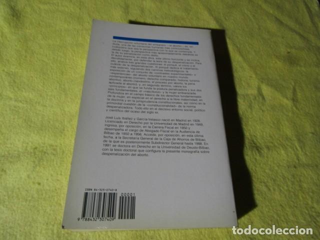 Libros de segunda mano: La despenalización del aborto voluntario en el ocaso del siglo XX - Foto 7 - 186240241