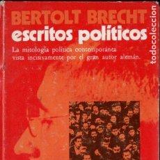 Libros de segunda mano: BERTOLT BRECHT : ESCRITOS POLÍTICOS (TIEMPO NUEVO, CARACAS, 1970). Lote 186435895