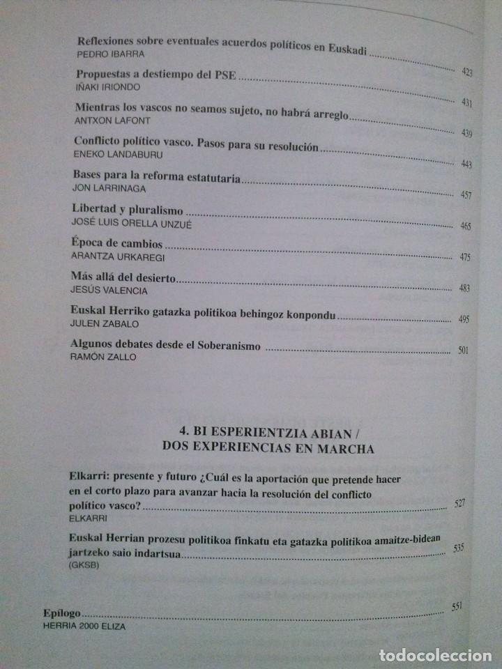 Libros de segunda mano: SOBERANIAS Y PACTO. RELACION DE EUSKAL HERRIA CON ESPAÑA Y FRANCIA. HERRIA 2000 ELIZA, AÑO 2005 - Foto 6 - 187210760