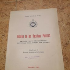 Libros de segunda mano: HISTORIA DE LAS DOCTRINAS POLÍTICAS CARLOS ALONSO DEL REAL. Lote 187281352