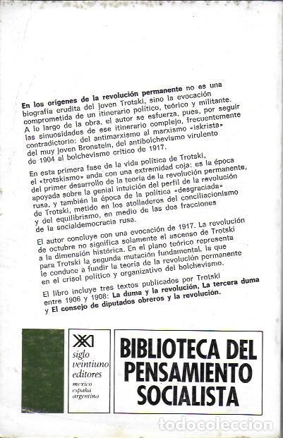 Libros de segunda mano: En los orígenes de la revolución permanente. El pensamiento político del joven Trotsky / A. Brossat. - Foto 4 - 188793778