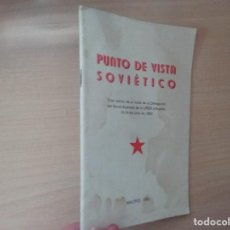 Libros de segunda mano: PUNTO DE VISTA SOVIÉTICO - VISITA DELEGACIÓN DEL SOVIET SUPREMO DE LA URSS A ESPAÑA 1985. Lote 189346438