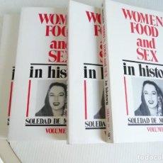 Libros de segunda mano: WOMEN FOOD AND SEX DE SOLEDAD MONTALVO 4 TOMOS. Lote 189932052