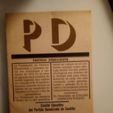 Libros de segunda mano: PD PARTIDO DEMÓCRATA. AVANCE 1976. 95PGS. Lote 191734846