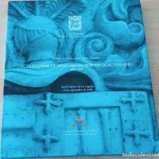 Libros de segunda mano: ACTO SOLEMNE DE APERTURA DEL PERÍODO DE ACTIVIDADES 2008-09 CONSEJO CONSULTIVO DE CANARIAS. Lote 191805868