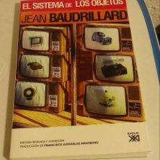 Livres d'occasion: EL SISTEMA DE LOS OBJETOS. BAUDRILLARD, JEAN. Lote 191822635