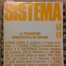 Libros de segunda mano: LA TRANSICION DEMOCRATICA EN ESPAÑA, ALFONSO GUERRA, TEZANOS, SANTESMASES, MARAVALL, SANTAMARIA. Lote 191902460
