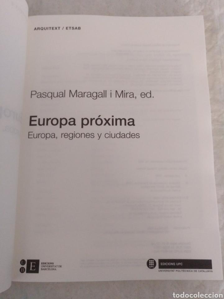 Libros de segunda mano: Europa próxima. Europa, regiones y ciudades. Pasqual Maragall i Mira, ed. Libro - Foto 2 - 192252492