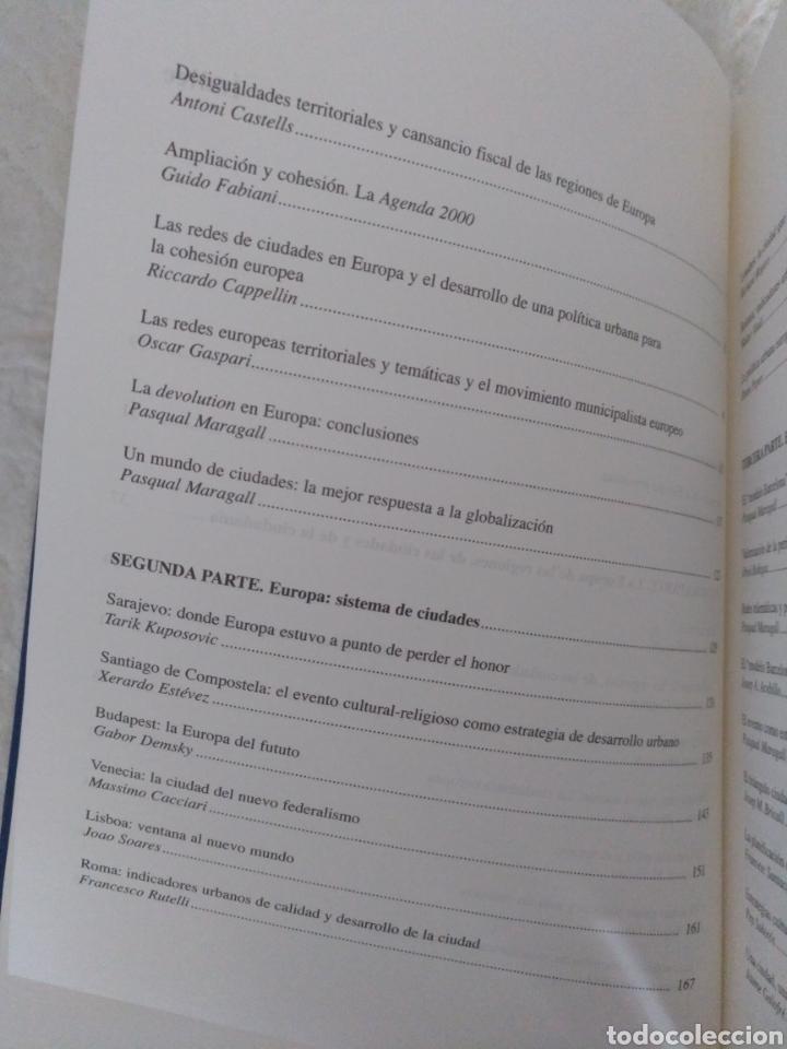 Libros de segunda mano: Europa próxima. Europa, regiones y ciudades. Pasqual Maragall i Mira, ed. Libro - Foto 4 - 192252492
