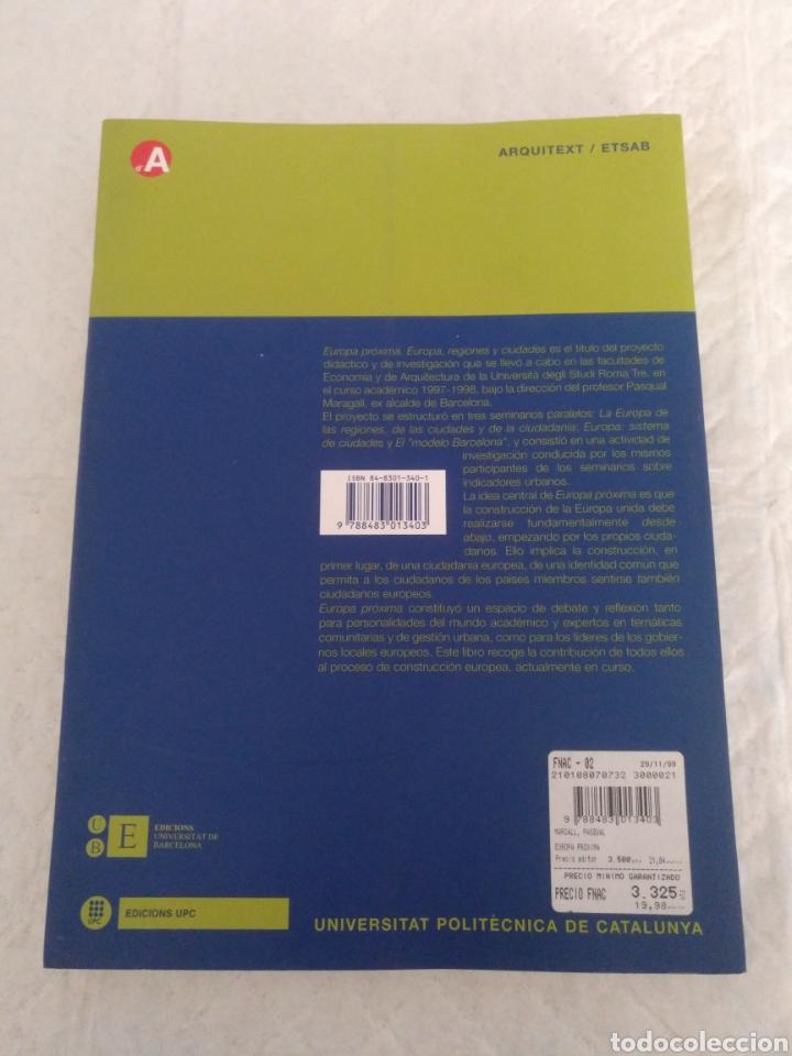 Libros de segunda mano: Europa próxima. Europa, regiones y ciudades. Pasqual Maragall i Mira, ed. Libro - Foto 9 - 192252492