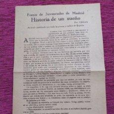 Libros de segunda mano: CARRERO BLANCO (PSEUDÓNIMO ORIÓN). HISTORIA DE UN SUEÑO. . Lote 193185647