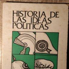 Libros de segunda mano: HISTORIA DE LAS IDEAS POLÍTICAS ** RAMÓN RODRÍGUEZ. Lote 193671691