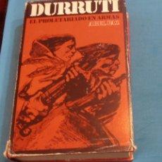 Libros de segunda mano: DURRUTI, EL PROLETARIADO EN ARMAS, ABEL PAZ. Lote 194087616