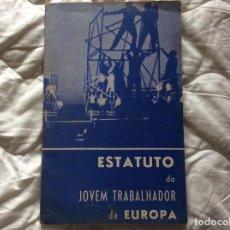 Libros de segunda mano: SITUACIÓN DEL JOVEN TRABAJADOR EN EUROPA, 1965. MUY ESCASO. ENVIO GRÁTIS.. Lote 194236973