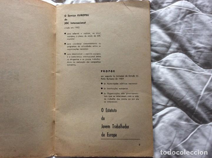Libros de segunda mano: Situación del joven trabajador en Europa, 1965. Muy escaso. - Foto 3 - 194236973