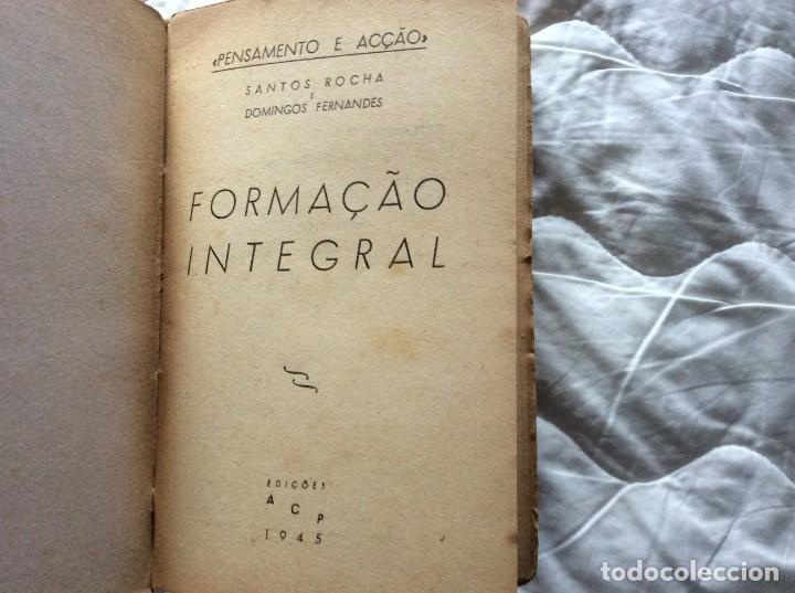 Libros de segunda mano: Pensamiento y acción. Entrenamiento integral. Por Santos Rocha e Domingos Fernandes, 1945 - Foto 2 - 194242140