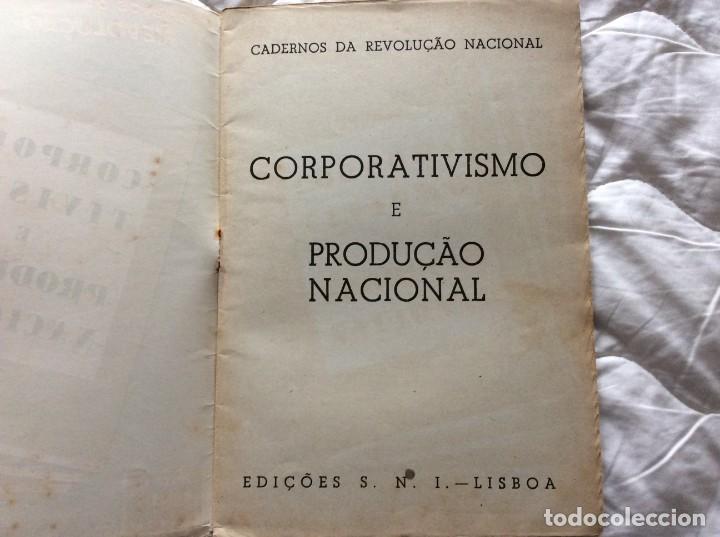 Libros de segunda mano: Cuadernos de la Revolución Nacional - Corporatismo y Producción Nacional, 1945. - Foto 2 - 194244907