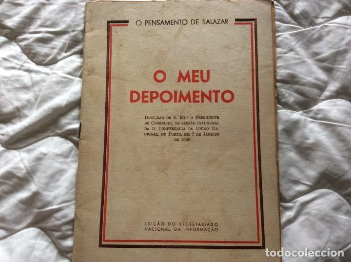 MI TESTIMONIO.OLIVEIRA SALAZAR. AÑO 1949. MUY ESCASO. (Libros de Segunda Mano - Pensamiento - Política)