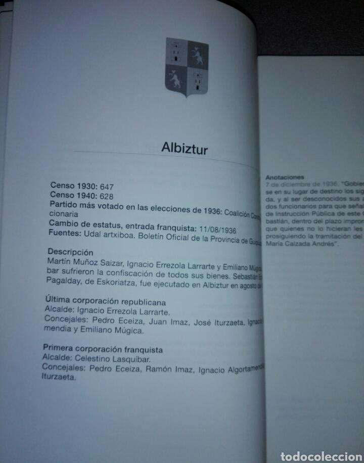 Libros de segunda mano: GIPUZKOA DE AYUNTAMIENTOS REPUBLICANOS A ANARQUISTAS...1936-1937...2010 - Foto 5 - 194341416
