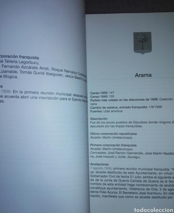 Libros de segunda mano: GIPUZKOA DE AYUNTAMIENTOS REPUBLICANOS A ANARQUISTAS...1936-1937...2010 - Foto 6 - 194341416